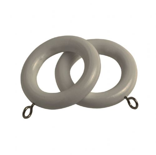 Speedy Victory  28mm Wooden Curtain Rings (Pack of 6) - Putty